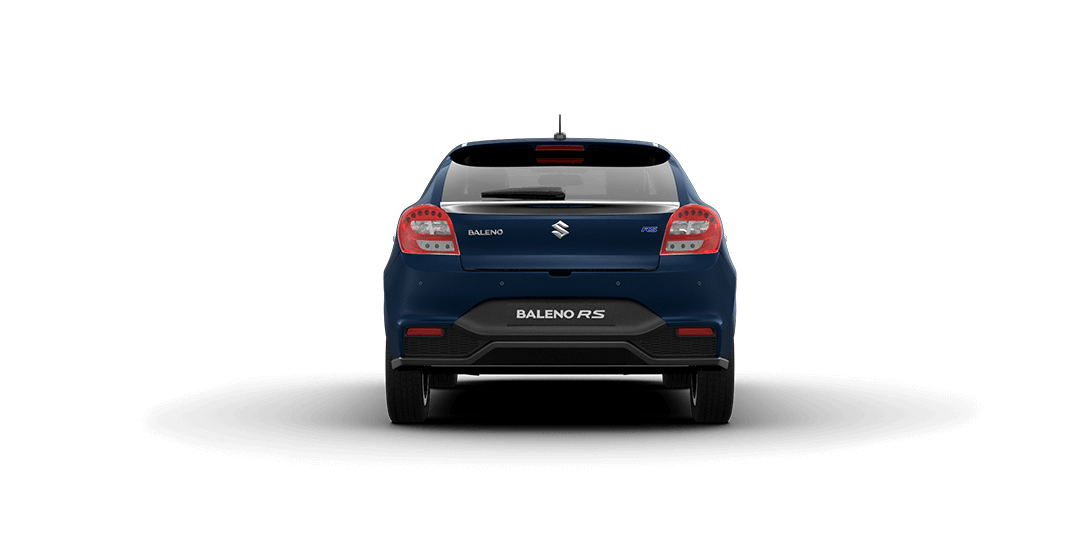 Baleno RS Ray Blue Car Back View