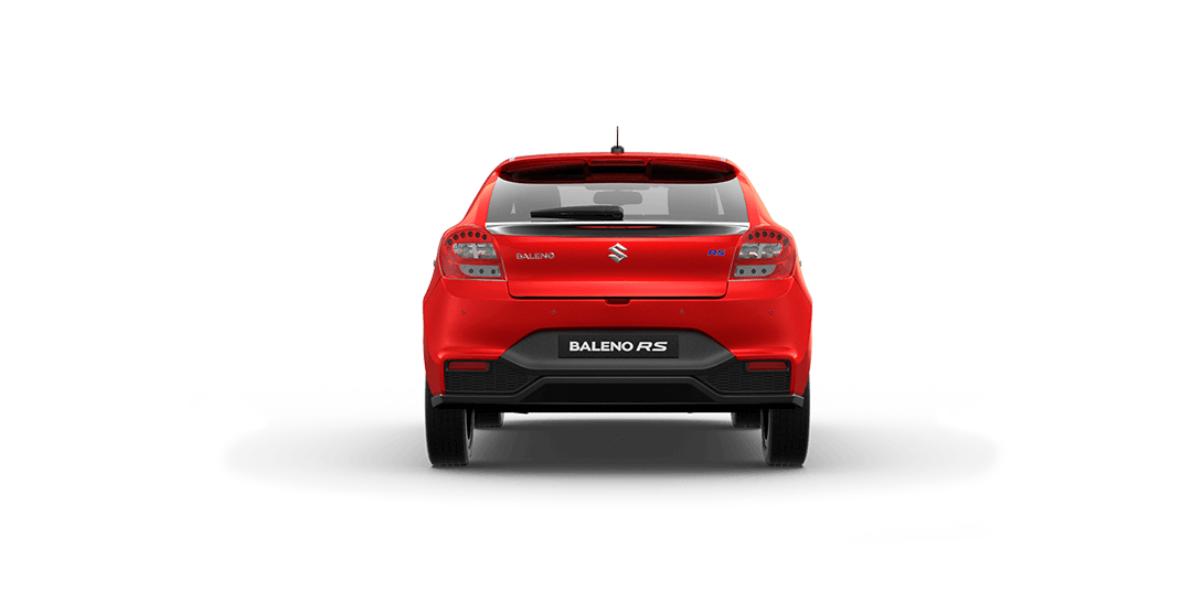 BalenoRs Red Car Back View
